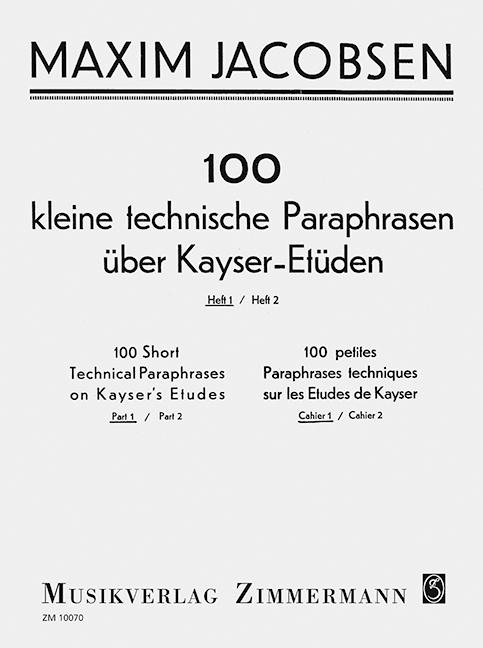 100-kleine-technische-Paraphrasen-uber-Kayser-Etuden-Heft-1-Jacobsen-Maxim-v